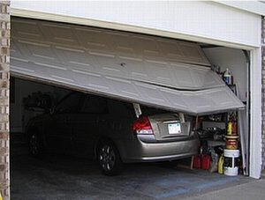 I accidentally backed into my garage door! What do I do now